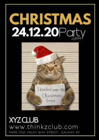Christmas Party Club Bar Event Show P A4 template