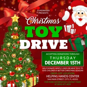 Christmas Toy Drive Isikwele (1:1) template