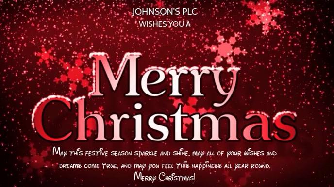 CHRISTMAS VIDEO TEMPLATE Pantalla Digital (16:9)