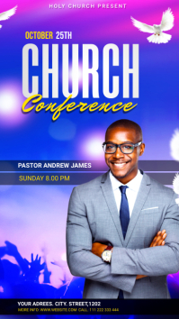 Church Conference Flyer Template Instagram 故事