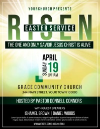 CHURCH EASTER Flyer (US Letter) template