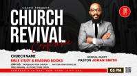 Church Revival flyer Twitch Banner template
