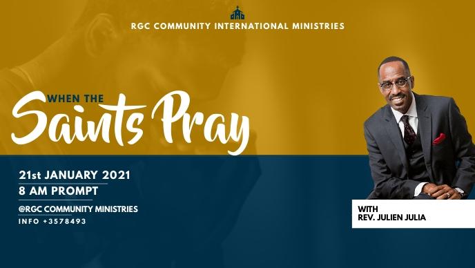 CHURCH SERVICE Vídeo de portada de Facebook (16:9) template