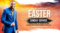 Church Sunday Service ads Post di Twitter template