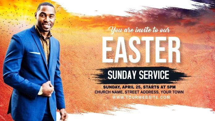 Church Sunday Service ads Publicación de Twitter template