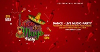 Cinco de mayo Party Flyer video Imagem partilhada do Facebook template