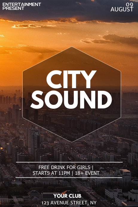 Copy of City Party night flyer template