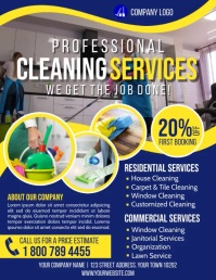 Cleaning Flyer (US Letter) template