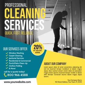 Cleaning Service Kvadrat (1:1) template