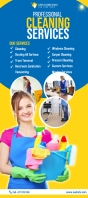 Cleaning Services Banner Rack Card template