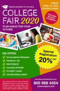 COLLEGE FAIR Poster template