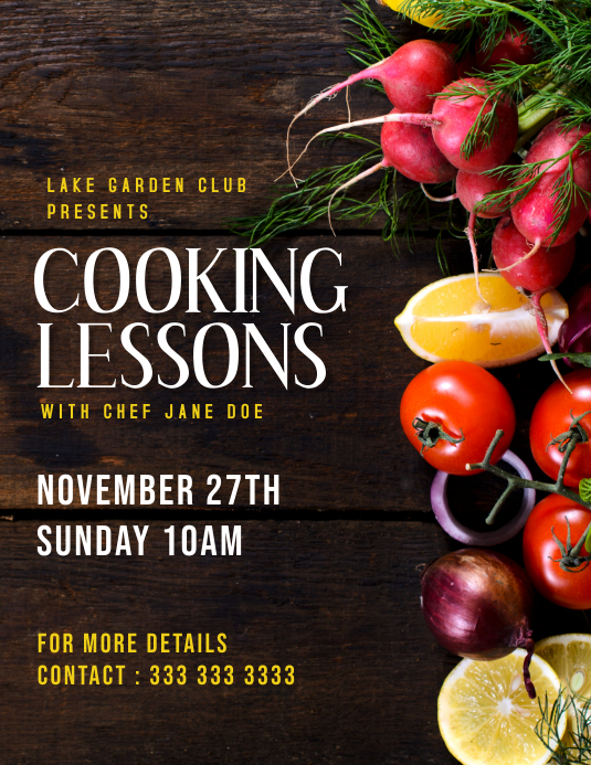 Copy of Cooking class
