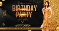 Birthday party flyer template Facebook Ad