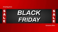 black friday poster Facebook Cover Video (16:9) template
