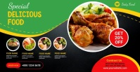 restaurant ads Facebook-annonce template