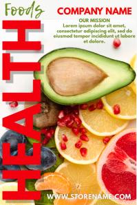 Health Food Cafe Bar Poster