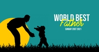 Father's Day template Facebook-advertentie