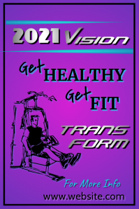Fitness 2021 Poster template