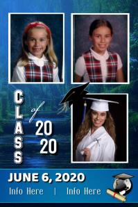 Graduation Photo Announcement Cartaz template