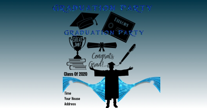 Graduations Facebook 广告 template