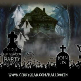 Halloween Party Event Video T template