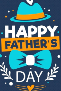 Happy fathers Illustration Tumblr template