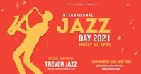 Jazz Festival Flyer Facebook Shared Image template