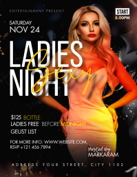 Ladies night club template Рекламная листовка (US Letter)