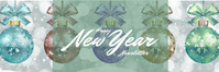 mail header new year template