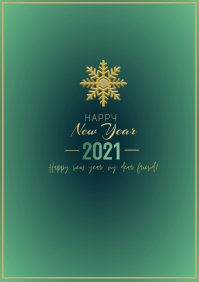 new year wishes flyer A4 template