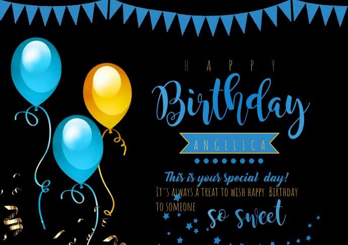 of flyer template happy birth A4