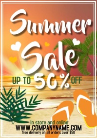 of of flyer template summer s A4