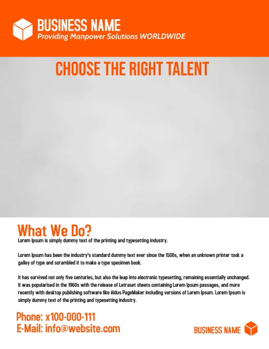 small business flyer Volante (Carta US) template