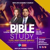 SUNDAY SERVICE FLYER Instagram Post template