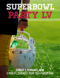 superbowl party Ulotka (US Letter) template