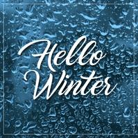 Winter โพสต์บน Instagram template