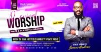 worship sunday flyer template Couverture d'événement Facebook