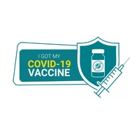 Covid-19 Vaccine Logo Design Logotipo template