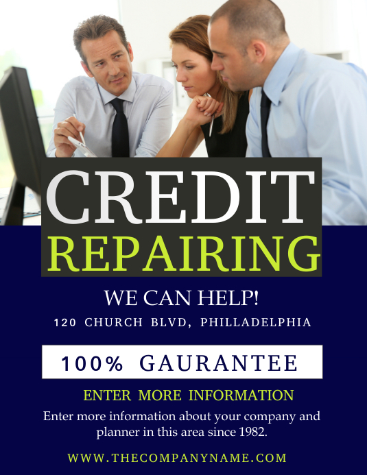 CREDIT Flyer (US-Letter) template
