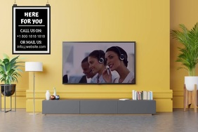 CUSTOMER SERVICE VIDEO AD Poster template