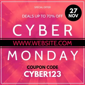 Cyber Monday Instagram-bericht template