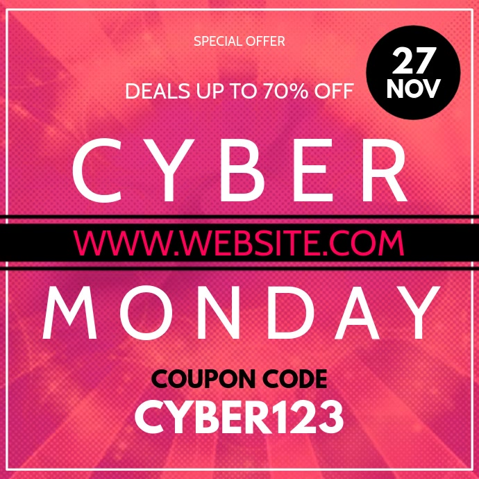 Cyber Monday Iphosti le-Instagram template