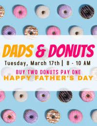 Dads & donuts event flyer Folheto (US Letter) template