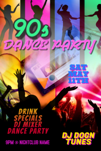 Copy of Dance Party DJ Club Poster Template