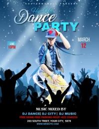 Dance Party Template Рекламная листовка (US Letter)