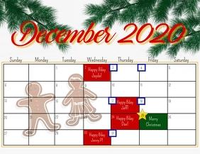 Decembercalendar Flyer (US Letter) template