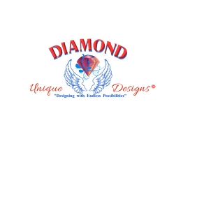 Copy of Diamond Q Angel Wings Logo Design