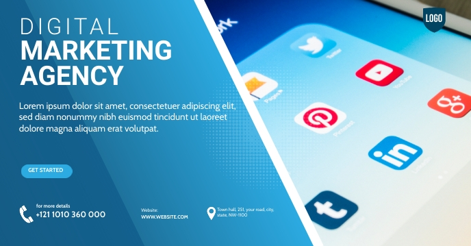 Digital Marketing YouTube Channel Cov Facebook Group Cover Photo template