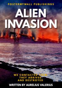 distopia alien invasion book cover de A4 template