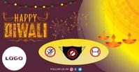 Diwali delt Facebook-billede template